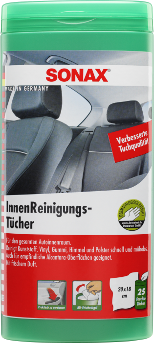 Sonax interieurreinigingsdoek dhe automotive for Interieur auto reinigen tips